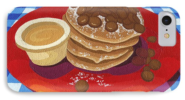 Pancakes Week 4 IPhone Case by Meg Shearer