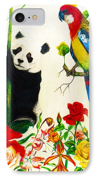 Panda And Parrot IPhone Case