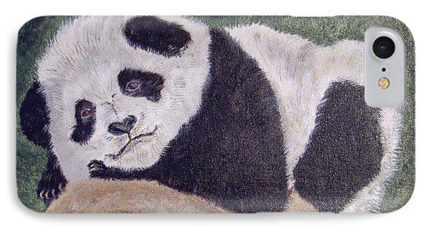 Panda Bear Sleepy Baby Cub Phone Case by Ella Kaye Dickey