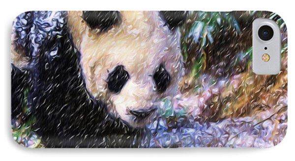 Panda Bear Walking In Forest IPhone Case by Lanjee Chee