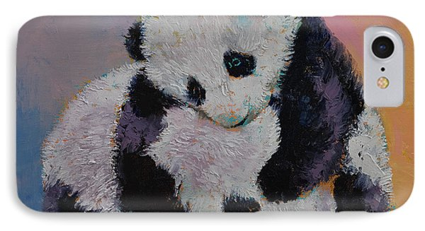 Baby Panda Rumble IPhone Case by Michael Creese