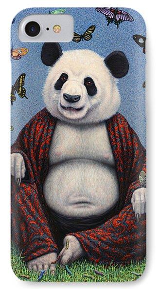 Panda Buddha IPhone Case by James W Johnson