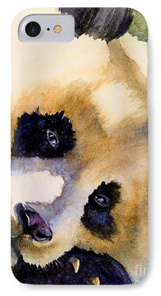 IPhone Case featuring the painting Panda Cub by Bonnie Rinier
