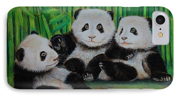 Panda Cubs IPhone Case by Jean Cormier