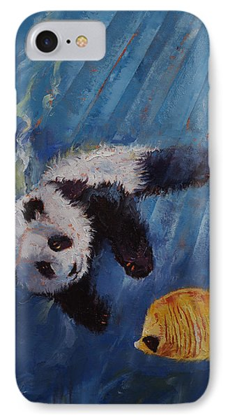 Panda Diver IPhone Case by Michael Creese