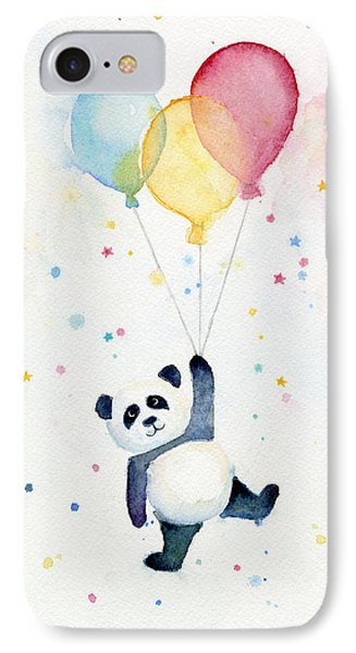 Panda Floating With Balloons IPhone Case