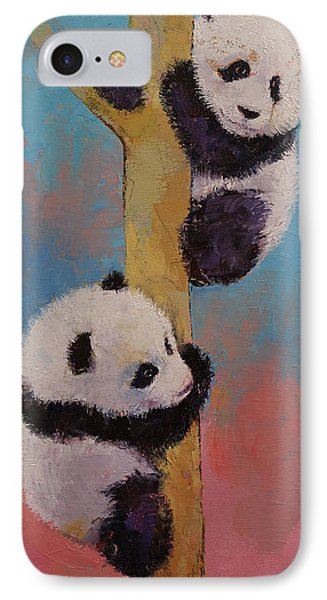 Panda Fun IPhone Case by Michael Creese