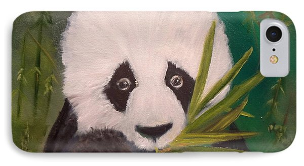 IPhone Case featuring the painting Panda by Jenny Lee