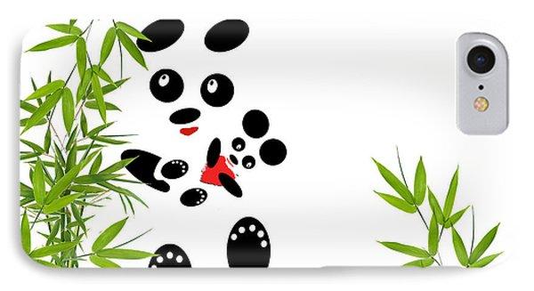Panda Mom With A Baby Phone Case by Ausra Huntington nee Paulauskaite