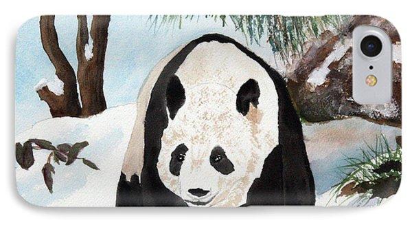 Panda On Ice Phone Case by Patricia Novack