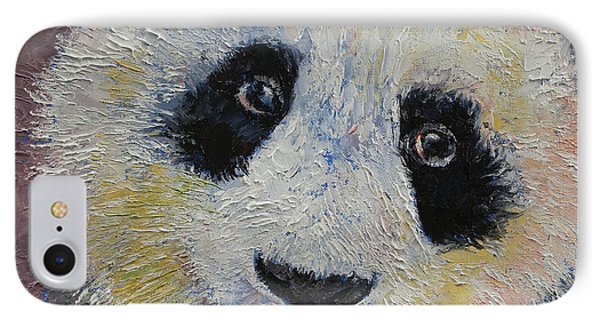 Panda Smile IPhone Case by Michael Creese