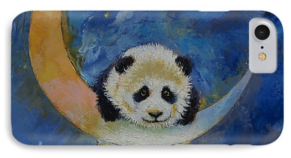 Panda Stars IPhone Case by Michael Creese