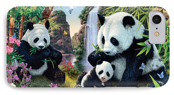 Panda Valley IPhone Case by Steve Read