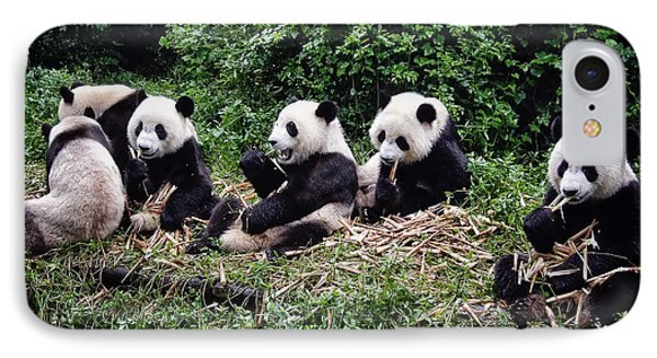 Pandas In China Phone Case by Joan Carroll