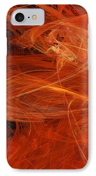 Panel 1 Of 5 Dancing Flames 2 H Pentaptych - Abstract - Fractal Art IPhone Case