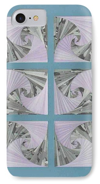 IPhone Case featuring the mixed media Panes by Ron Davidson