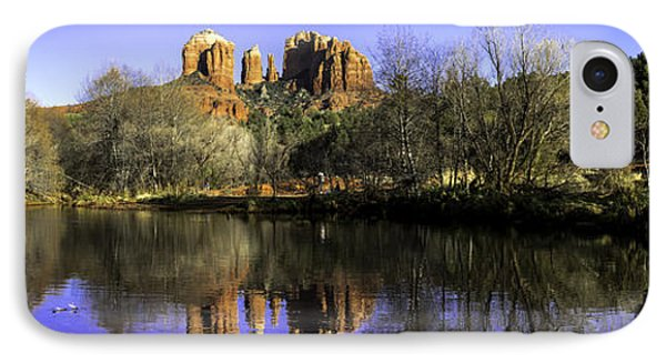 Panorama At Red Rocks Crossing In Sedona Az IPhone Case