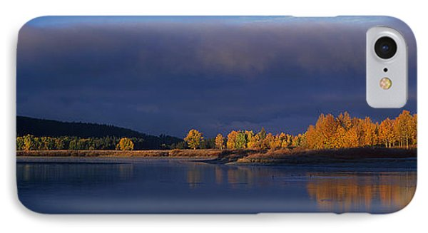 IPhone Case featuring the photograph Panorama Clearing Storm Oxbow Bend Grand Tetons National Park Wyoming by Dave Welling