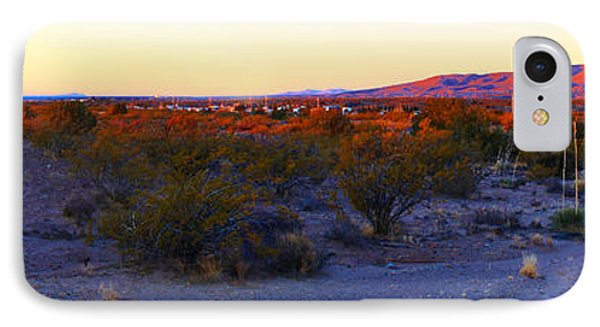 Panorama Morning View Of Mountains Phone Case by Roena King