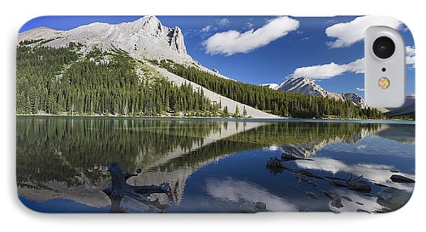 Panorama Of A Mountains Reflecting On A Phone Case by Michael Interisano