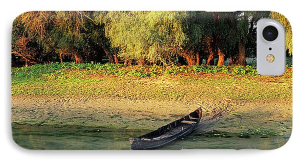 Panorama Of Channel In The Danube Delta IPhone Case by Martin Zwick