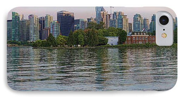 Panorama Of Coal Harbour And Vancouver Skyline At Dusk IPhone Case by David Smith