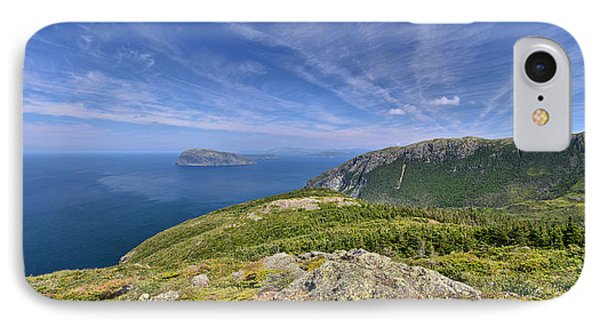 Panorama Of Grosvenor Island And The Outer Bay Of Islands IPhone Case by Sebastien Coursol