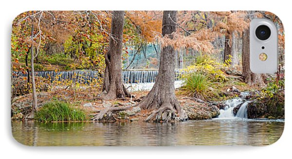 Panorama Of Guadalupe River In Hunt Texas Hill Country Phone Case by Silvio Ligutti