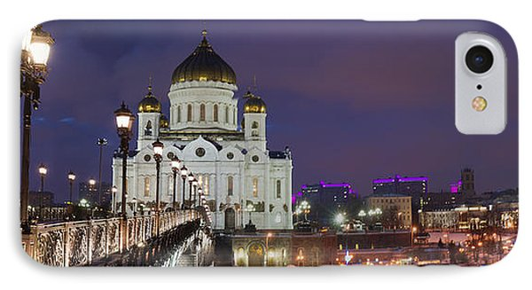Panorama Of Moscow Cathedral Of The Christ The Savior - Featured 3 Phone Case by Alexander Senin