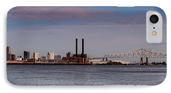 Panorama Of New Orleans And Crescent City Connection From Gretna - Louisiana IPhone Case
