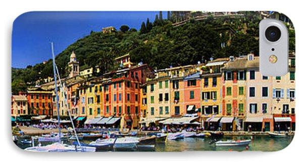 Panorama Of Portofino Harbour Italian Riviera IPhone Case
