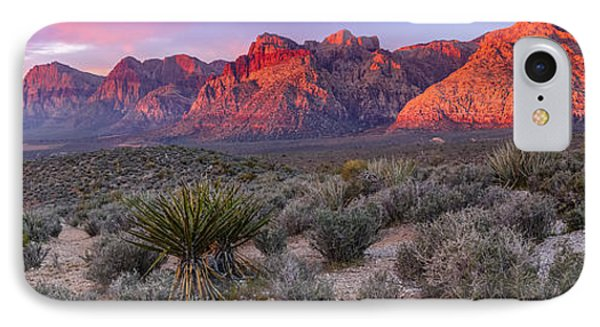 Panorama Of Rainbow Wilderness Red Rock Canyon - Las Vegas Nevada IPhone Case by Silvio Ligutti