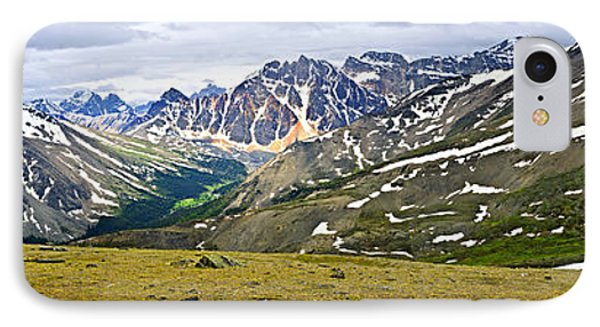 Panorama Of Rocky Mountains In Jasper National Park IPhone Case by Elena Elisseeva