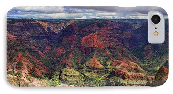 Panorama Of Waimea Canyon Hawaii IPhone Case by David Smith