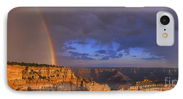 IPhone Case featuring the photograph Panorama Rainbow Over Cape Royal North Rim Grand Canyon National Park by Dave Welling