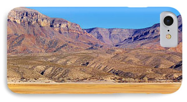 Panorama Sierra Caballo Mountains And Dry Lake Bed Phone Case by Roena King