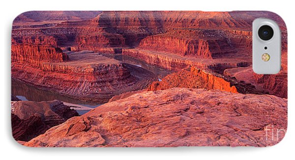 IPhone Case featuring the photograph Panorama Sunrise At Dead Horse Point Utah by Dave Welling