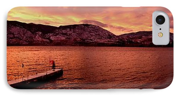 Panorama Sunset Skaha Lake IPhone Case