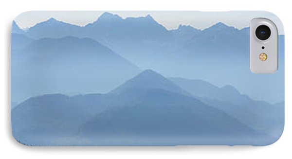 Panorama View Of The Bavarian Alps Phone Case by Rudi Prott