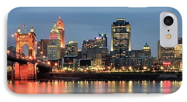 Panoramic Cincinnati Ohio IPhone Case by Frozen in Time Fine Art Photography