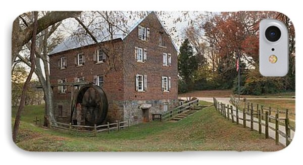 Panoramic Kerr Grist Mill Landscape IPhone Case by Adam Jewell