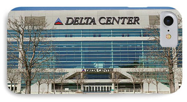 Panoramic Of Delta Center Building IPhone Case