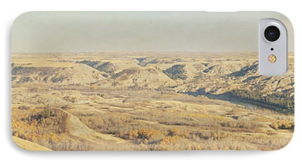 Panoramic Of The Badlands Of The Red Phone Case by Roberta Murray