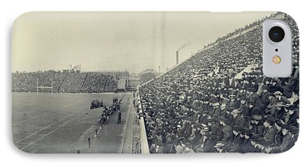 Panoramic Photo Of Harvard  Dartmouth Football Game IPhone Case by Edward Fielding