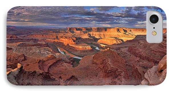 IPhone Case featuring the photograph Panoramic Sunrise Over Dead Horse Point State Park by Sebastien Coursol