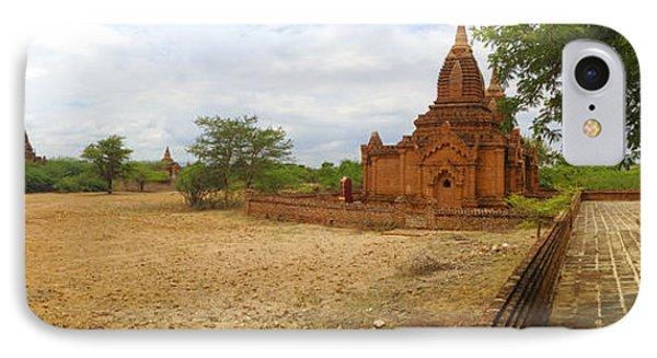 IPhone Case featuring the photograph Panoramic View Next To Dhammayazika Pagoda Built In 1196 By King Narapatisithu by Ralph A  Ledergerber-Photography