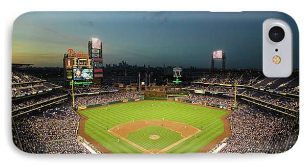 Panoramic View Of 29,183 Baseball Fans IPhone Case
