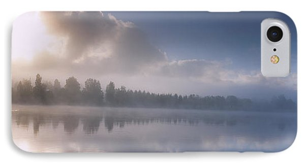 Panoramic View Of A River At Dawn IPhone Case by Panoramic Images