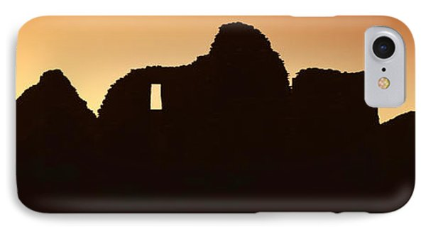 Panoramic View Of Chaco Canyon Indian IPhone Case