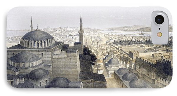Panoramic View Of Constantinople IPhone Case by Gaspard Fossati